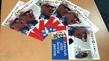 Lot of (6) : 1998 CHicago Cubs Scorecard : HARRY CARAY TRUBUTE w/ ticket stub