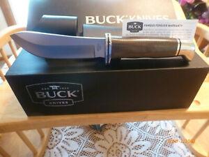 Buck BU103 Pro Series Skinner S35VN Stainless Blade Green Micarta Handle NIB!