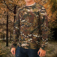 Men Tactical Military Long Sleeve Army Camo T-Shirt Hunting Shirt Top Camouflage