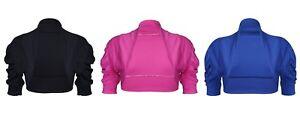 Womens Ruched Sleeve Cropped Bolero Cardigan Shrug Plus Sizes
