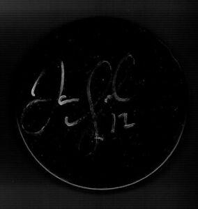Jarome Iginla Signed Blank Puck Calgary Flames Boston Bruins Colorado Avalanche