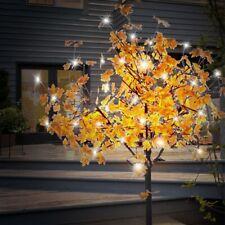 Dekobaum Standleuchte Außenlampe 450x LED HxBxW 210x190x190 cm Blätter Orange