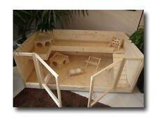 Bauanleitung KÄFIG NATURAL für Meerschweinchen/Kaninchen aus Holz und Glas