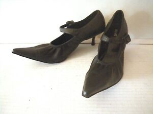 Black Witch Shoes, Long Pointed Toes, Elastic, Kitten Heel, Miss Me, Womens 8.5