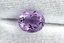 6.47 Carat 13x11 Oval Natural Rose De France Amethyst Gemstone Gem Stone B20A48