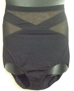 Illusion High Waist Brief BLACK Shape Cacique Lane Bryant Plus Size Shaper Panty