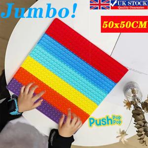 50x50cm Mega Size Jumbo Bubble Popper Fidget Toys ADHD Stress Relief Game Toy