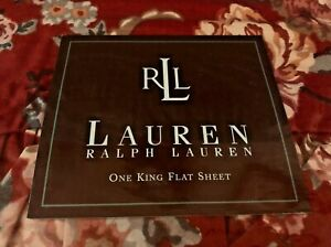 RALPH LAUREN MARSEILLES Floral KING Flat SHEET ~ BEAUTIFUL!  NEW in Package !
