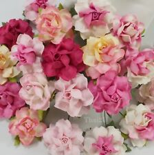 "1-1/2"" or 3.75 cm Mixed Pink Craft Paper Flower Wedding Scrapbook Crafts R21/00"