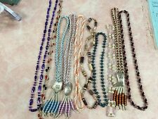 10 VINTAGE BEADED COSTUME NECKLACE CHAINS AND PENDANTS FROM MOM'S JEWELRY BOX