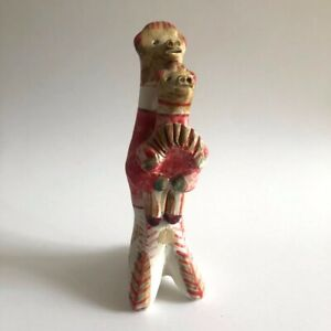 """Handmade Russian dymkovo toy clay whistle animals 6"""" collectable"""