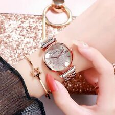 Women Watch Rose Gold Bracelet Luxury Quartz Wristwatch Female Stainless Steel