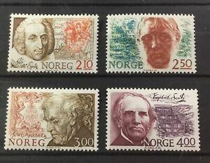NORWAY # 896-899. FAMOUS MEN.  MNH