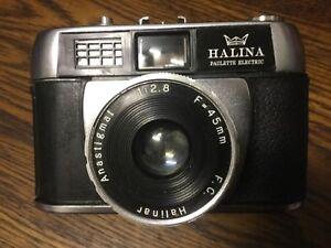 HALINA PAULETTE ELECTRIC -  Halinar Anastigmat Old Vintage Camera - Hong Kong