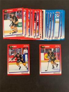 1991/92 Score Canadian Bilingual Boston Bruins Team Set 28 Cards