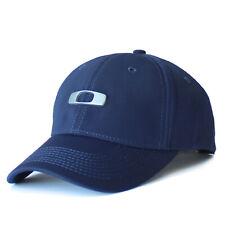 Oaklay Metal Gascan 2.0 Hat Mens Tek-Flex Stretch Fit Baseball Cap Casual Navy L