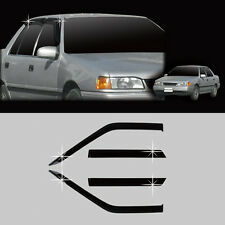 Smoke Sun Window Visor Vent Wind Rain Shield 4p 1Set For 1986-1994 Hyundai Excel