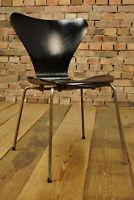 60er Vintage Arne Jacobsen 3107 Stuhl Fritz Hansen Dining Chair schwarz No 4