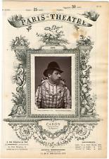 Lemercier, Paris-Théâtre, Caron, chanteur Vintage albumen Print Tirage album