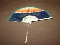 VINTAGE NYAC NEW YORK ATHLETIC CLUB SOUVENIR OF TRAVERS ISLAND HAND FAN