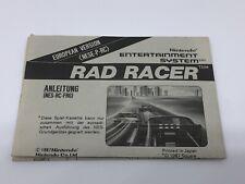 Anleitung FRG Rad Racer Deutsch Bienengräber NES Nintendo Manual Square