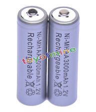 2x AA 2A 3000mAh 1.2V Ni-Mh gris de la batería recargable de RC MP3 Cámara