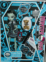 Monster High 1st wave with pet dog watzit doll Frankie Stein Xmas goth halloween