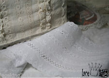 """1Yds Broderie Anglaise cotton lace trim 5.1"""" YH COTTON-SERIES laceking2013"""