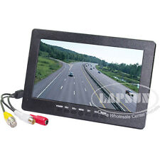 "7"" TFT LCD AV BNC Color Headrest Rearview Monitor F Car Reversing Camera DVD AU"