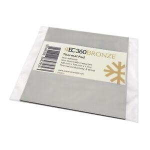 EC360® BRONZE 8W/mK Wärmeleitpad (100 x 100 x 1,0 mm) I ThermalPad GPU Titanium