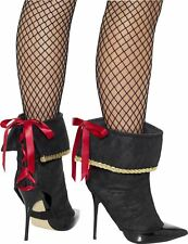 WOMENS PIRATE BOOT COVERS FANCY DRESS