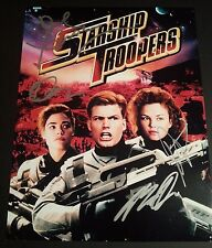 """STARSHIP TROOPERS cast(x4) Authentic Hand-Signed """"PAUL VERHOEVEN"""" 11x14 Photo"""