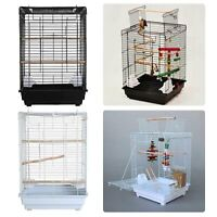 FoxHunter Metal Bird Cage With Stand Aviary Parrot Budgie Canary Cockatiel