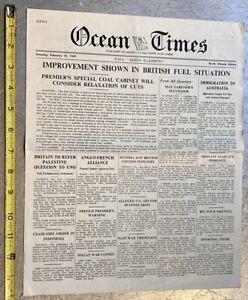 1947 OCEAN TIMES NEWSPAPER cunard white star liners RMS QUEEN ELIZABETH