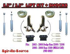 """5.5 / 3.5 Lift Kit + SHOCKS. FITS 03 - 08 Dodge Ram 2500 3500  2WD 3.5"""" Axle"""