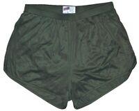 Soffe Olive Drab Nylon Ranger Panties / Silkies Running Track Shorts Men's Large