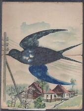 SOUTH AFRICA, 1906 K ED V11, TO UK, WITH SWALLOW, MADE FROM PAPER,FINE & UNUSUAL