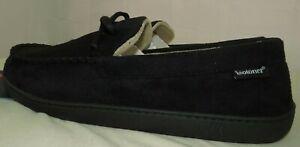 Isotoner Men's House Slippers Shoes Black Gel Infused Memory Foam XL 13 - 14 US