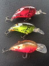 3 X Crawdad Medium Diving lure Cod Yellowbelly & Redfin Trout  MUZZA'S LURES