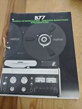 Original Vintage B77 REVOX STEREO TSPE RECORDER OPERATING INSTRUCTIONS 38 PAGES