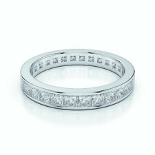 Best Seller..!! 1.00 Carat  Princess Diamond Full Eternity Ring  White Gold