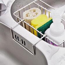 Stainless Steel Kitchen Sink Caddy Tidy Storage Holder Rack Cleaning Organizer