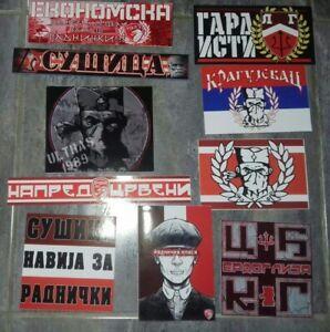 11 x Serbian Football Ultras Stickers Radnički Kragujevac