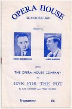 1960's SCARBOROUGH Opera House Programme - Lots of Local Adverts