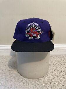 Vtg 90s NBA Toronto Raptors Plain Logo Wool G Cap Snapback Hat NWT RARE