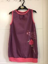 Girls Vertbaudet Purple Cotton Jersey Dress 7-8 Years