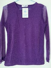 Glittery Purple Top Size L On Label But Tight Fit So It's More On Medium Size