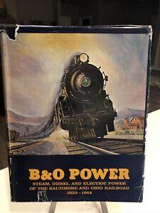 Railroad Book: B&O Power 1829 – 1964 – Sagle and Staufer (1964) HC/DJ E