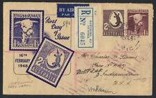 AUSTRALIA 1948 REGISTERED HAWTHORN VICTORIA FDC COVER TO US & RETURNED WITH DEAD