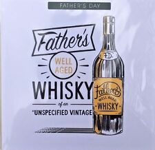 """Father's Day Greeting Card - """"Whiskey Theme"""" - Blank Inside For Your Own Message"""